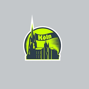 Abstract logo sticker of the city of cologne.