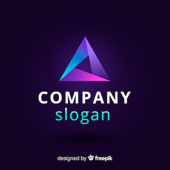 Abstract logo template gradient style