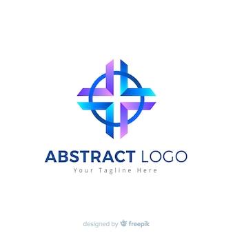 抽象的なロゴのテンプレートのグラデーションスタイル