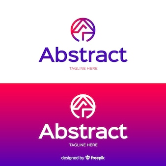 Abstract logo template for light and dark background