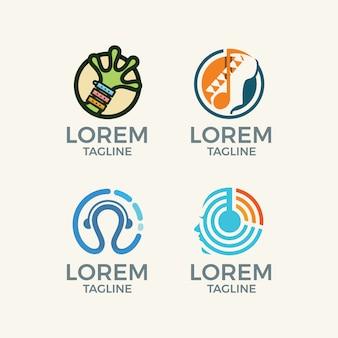 Абстрактный логотип шаблоны коллекции
