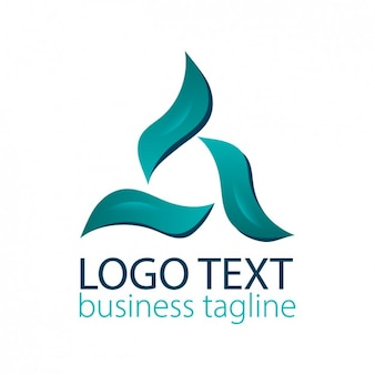Abstract logo in turquoise color Free Vector