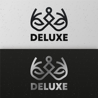 Abstract logo in two version concept