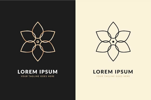 Abstract logo in two version design
