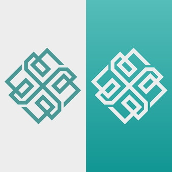 Abstract logo in two version