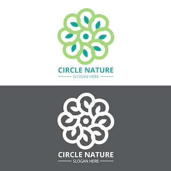 Abstract logo in two versions concept