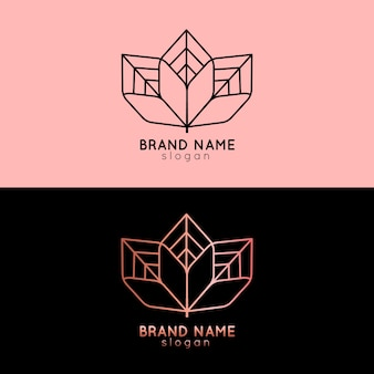Abstract logo in two versions template