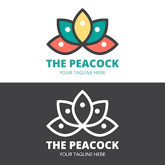Abstract logo in two versions