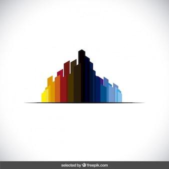 Аннотация логотип с красочными полигонов