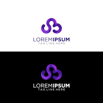 Abstract logo with gradient