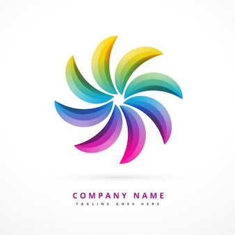 Abstract logo with rainbow colors