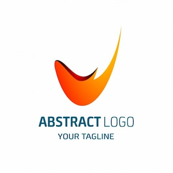 V lettera astratta logo
