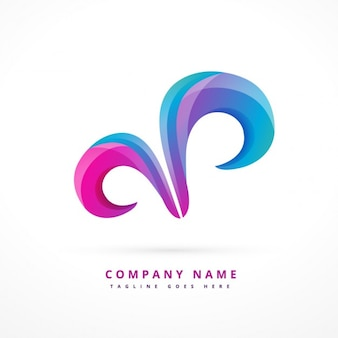 Abstract logo with swirls