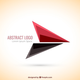 Abstract logo with triangles Premium Vector