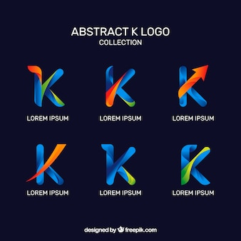 Abstract logos of letter