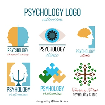 Abstract logos for psychological clinic
