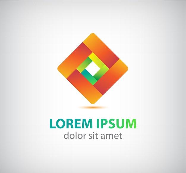 Абстрактный петли ленты геометрический значок, логотип изолированные