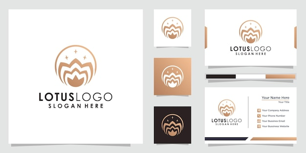 Абстрактный цветок лотоса логотип лотос логотип и дизайн визитной карточки