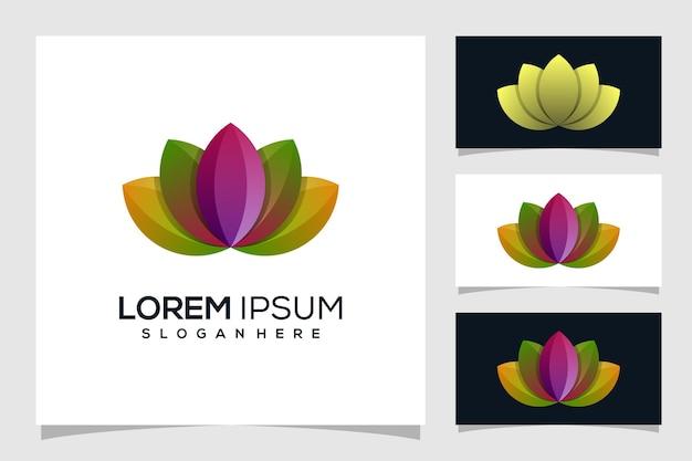 Абстрактный дизайн логотипа лотоса