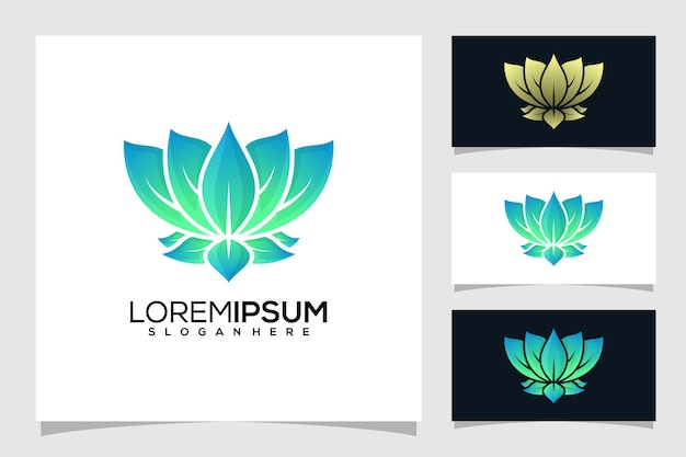 Abstract lotus logo design