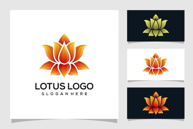 Абстрактная иллюстрация логотипа лотоса