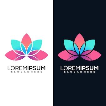 Абстрактный лотос логотип в двух версиях