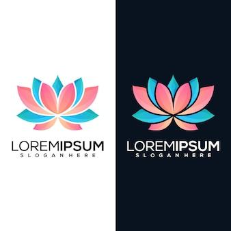 Абстрактный лотос логотип