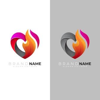 抽象的な愛のロゴとチャリティーアイコン