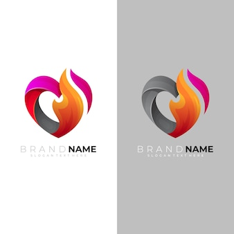 Abstract love logo and charity icons