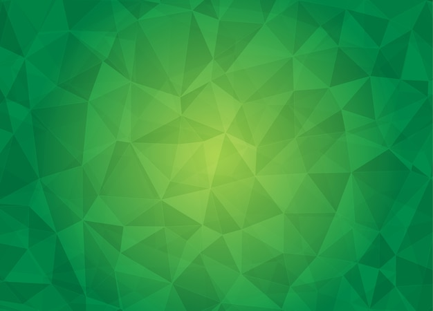 Abstract low poly background in green color tone