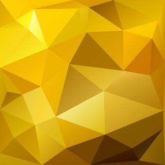 Абстрактный фон низкой поли треугольников в золотых тонах