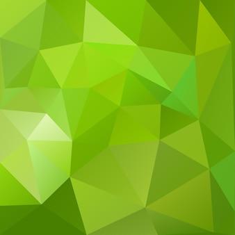 緑の色の三角形の抽象的な低ポリ背景