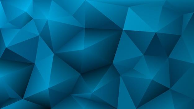 水色の三角形の抽象的な低ポリ背景