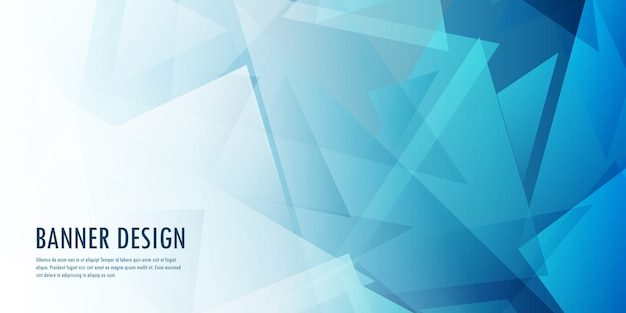 Abstract low poly banner design