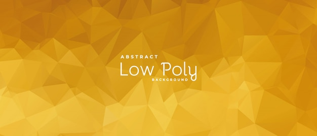 Abstract low poly banner with golden shade