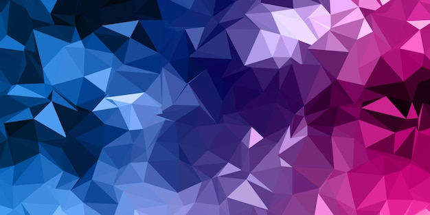 Abstract low poly banner
