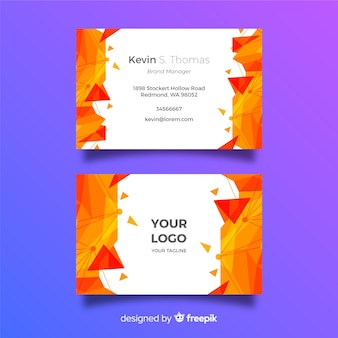 Abstract low poly business card