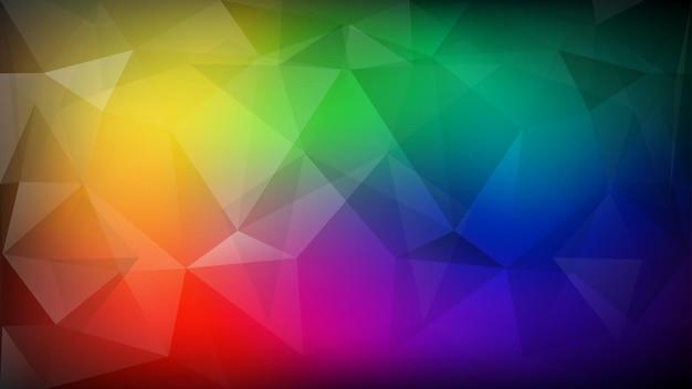 삼각형의 추상 낮은 폴 리 색된 배경