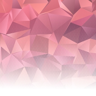 Abstract low poly design with halftone dots