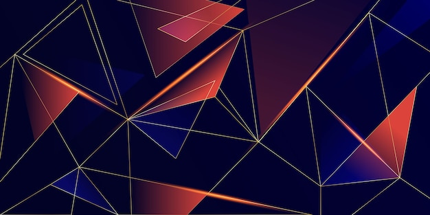 Abstract low poly shiny background