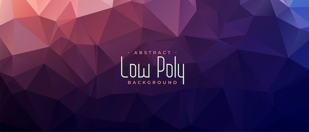 Abstract low poly shiny banner background