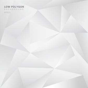 Abstract low polygon white background.