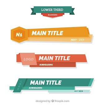 Abstract lower thirds  in flat design