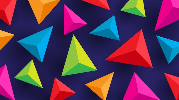 Abstract lowpoly background colorful