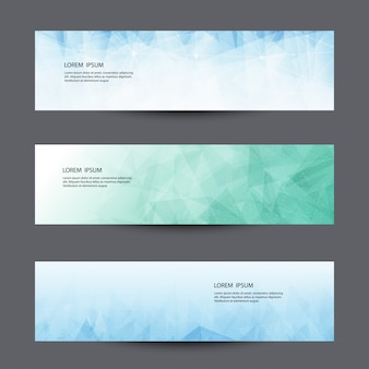 Abstract lowpoly vector  banner template.