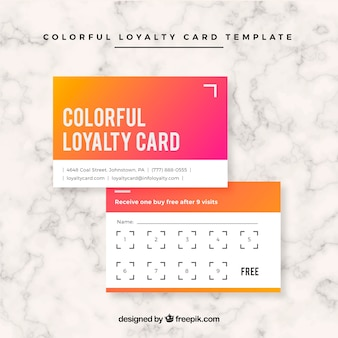 Abstract loyalty card template