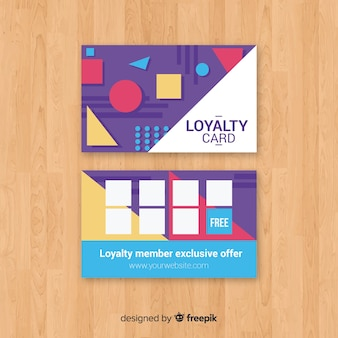 Abstract loyalty card with geometric design