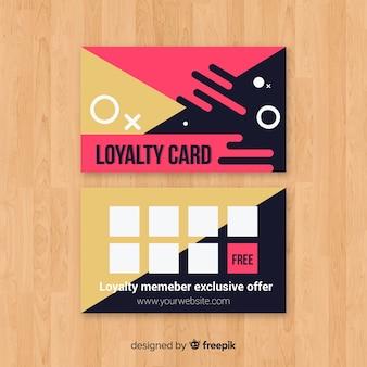 幾何学的なデザインを持つ抽象的なロイヤリティカード