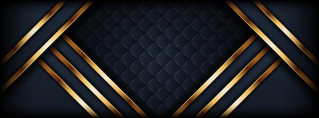 Абстрактный роскошный темный фон с золотой линией
