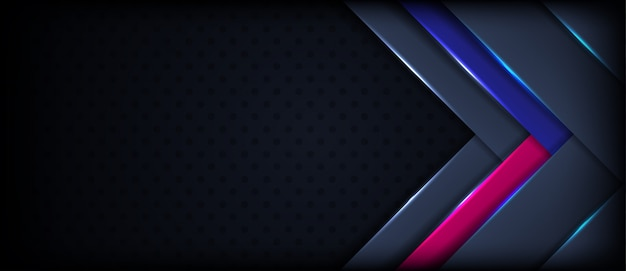 Abstract luxurious dark navy background with blue pink accent